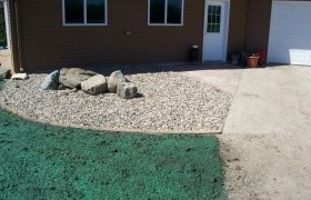 Professional lawn hydroseeding performed by Exterior Designs of Alexandria