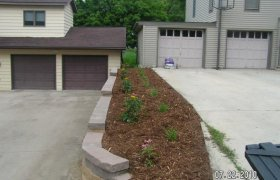 Softscape landscaping designed and installed by Exterior Designs of Alexandria